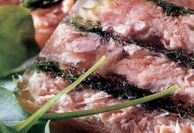 Hure de saumon persillée